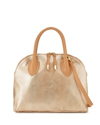 Foley Corinna Cassis Leather Satchel Bag Gold Dust