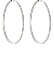 Ambre Victoria Oversized Hinged Hoops Colorless