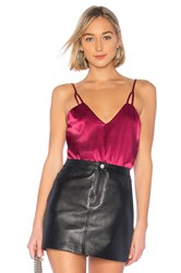 By The Way Lucia Cut Out Strap Bodysuit Wine