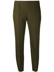 Theory Smart Cropped Trousers Green