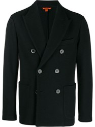 Barena Double Breasted Coat Black