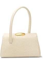 Little Liffner Baby Boss Croc Effect Leather Tote White