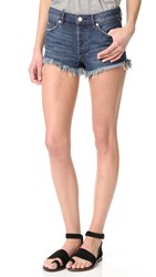Free People Soft And Relaxed Cutoff Shorts Ocean Blue