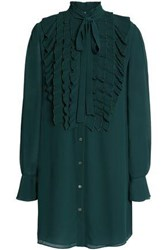Bailey 44 Long Sleeve Chiffon Mini Dress Emerald