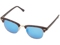 Ray Ban Rb3016 Clubmaster 49Mm Grey Mirror Blue Fashion Sunglasses Gray