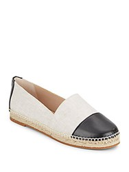 French Connection Shauna Woven Two Tone Flats Grey Black