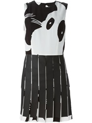 Mcq By Alexander Mcqueen Mcq Alexander Mcqueen Bunny Print Pleated Mini Dress White