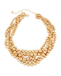 Lydell Nyc Beaded Torsade Necklace Gold