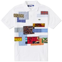 Junya Watanabe Man X Lacoste Patchwork Polo White