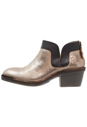 Fly London Dias Ankle Boots Luna Ground Gold