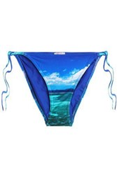 Orlebar Brown Printed Low Rise Bikini Briefs Bright Blue
