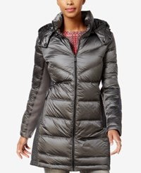 Bcbgeneration Hooded Quilted Puffer Coat Gunmetal