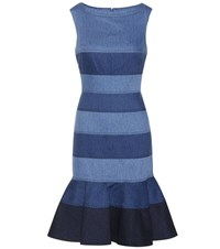 Carolina Herrera Solid Dress Blue