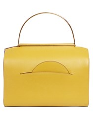 Roksanda Ilincic Signature Leather Bowling Bag Dark Yellow