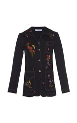 Vivetta Corvo Embroidered Denim Jacket Dark Wash