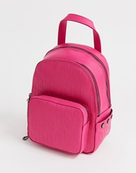 Juicy Couture Aspen Mini Zippy Backpack In Hot Pink