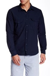 Save Khaki 2 Pocket Classic Fit Full Shirt Blue
