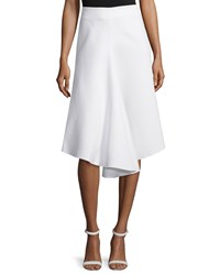 N Nicholas Ponte Draped Front Skirt White