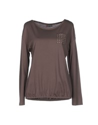 Street One Topwear T Shirts Women Grey