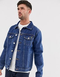 Voi Jeans Dark Wash Denim Jacket Blue