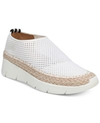 Franco Sarto Pascha Perforated Slip On Espadrille Fashion Sneakers White