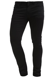 Volcom Straight Leg Jeans Black On Black Black Denim