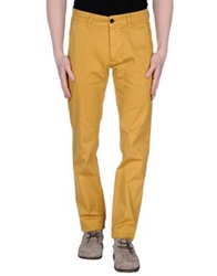 Velour Casual Pants Yellow