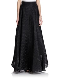 Milly Organza Circle Maxi Skirt Black