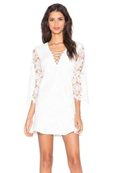 Toby Heart Ginger X Love Indie Free Spirit Lace Up Dress White