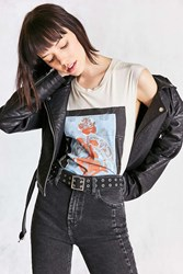 Urban Outfitters Square Double Prong Belt Black