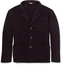 Massimo Alba Herringbone Wool Jacket Burgundy