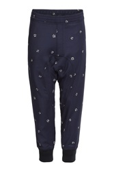 Neil Barrett Printed Harem Sweatpants Blue