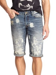 Prps Keith 2 Bleach Splatter Denim Shorts Light Vintage