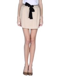 Armani Jeans Mini Skirts Beige