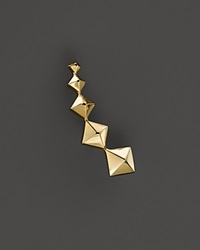 Zoe Chicco 14K Yellow Gold Graduated Pyramid Single Ear Cuff Left