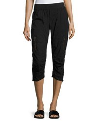 Xcvi Dorris Zip Pocket Crop Pants Black