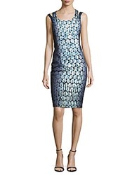 Karen Millen Graphic Jewel Print Dress Green Multicolor
