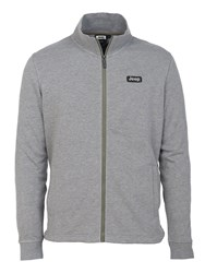 Jeep Mens Full Zip Light Sweatshirt J5s Light Grey