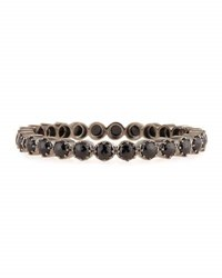 Bavna Black Spinel Bangle Bracelet