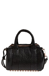 Alexander Wang 'Mini Rockie Rose Gold' Leather Crossbody Satchel Black