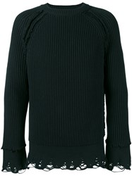 Haider Ackermann Ribbed Jumper Men Cotton Cashmere S Black