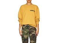 Ambush Logo Cotton French Terry Sweatshirt Yellow