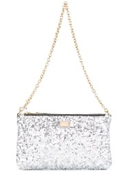 Dolce And Gabbana Mini Sequinned Shoulder Bag Metallic