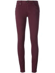 Burberry Brit Skinny Jeans Pink And Purple