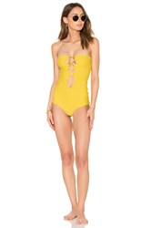 Acacia Swimwear Bronx One Piece Yellow