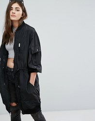 Pull And Bear Pullandbearwind Breaker Parka Jacket Black