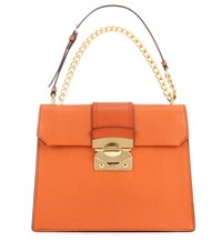 Miu Miu Leather Tote Bag Orange