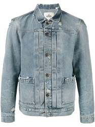 Levi's Made And Crafted Faded Denim Jacket Men Cotton L Blue