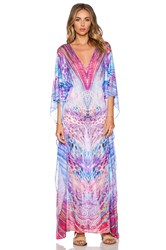 Luli Fama Amanecer Long Caftan Purple