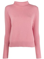 Aspesi Roll Neck Fitted Sweater Pink